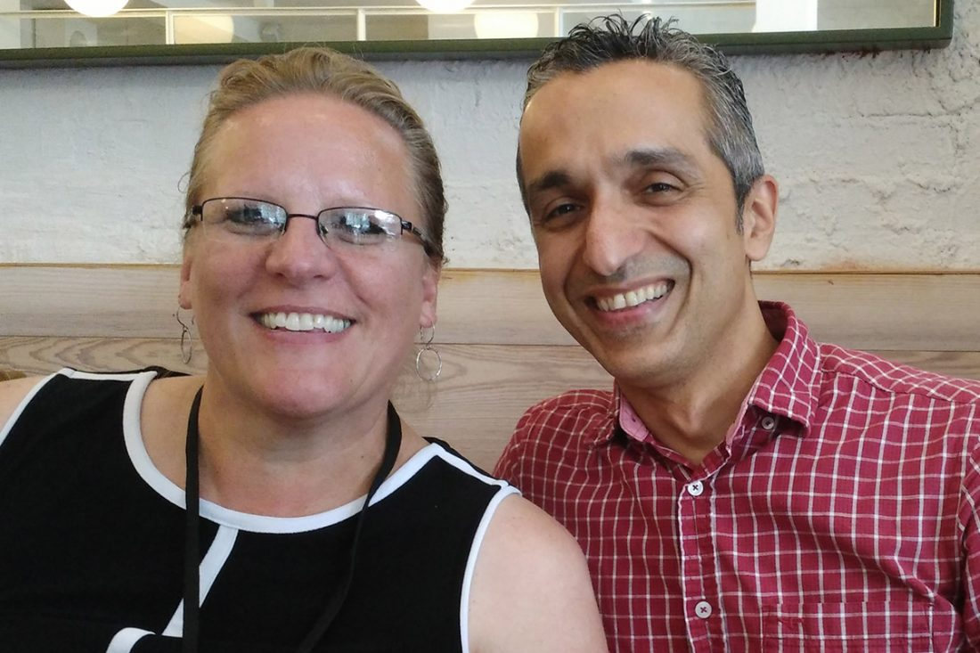 Carolyn Porter and Sairus Patel