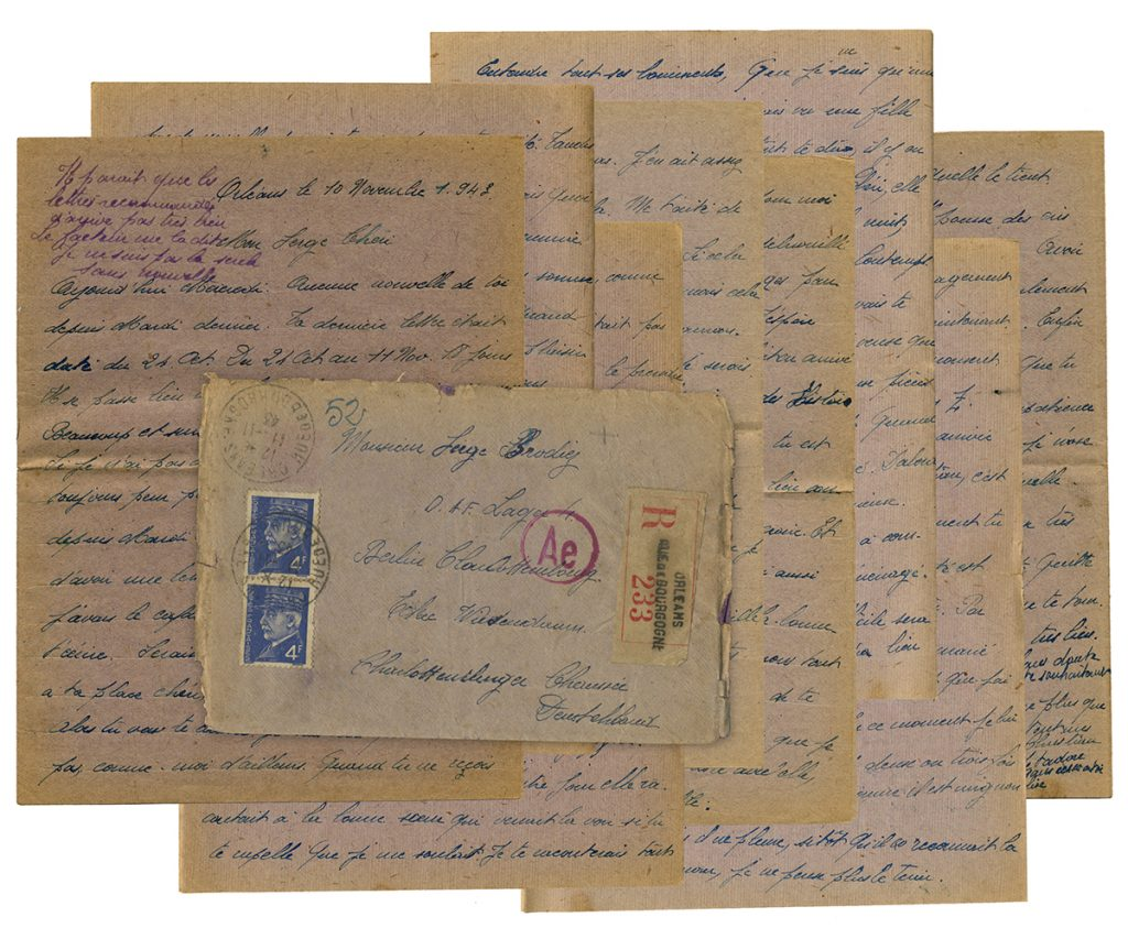 eight page letter brown paper, written November 10, 9143