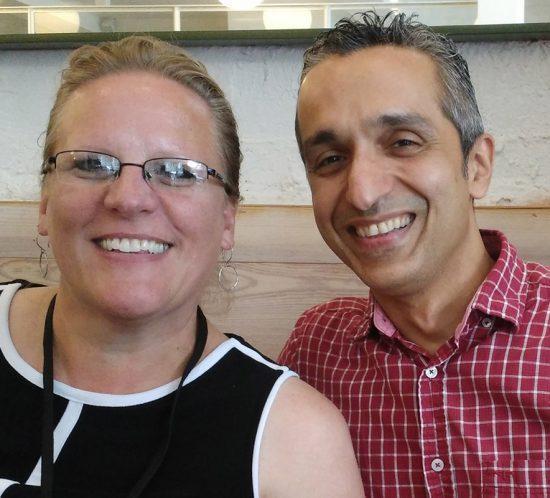 Carolyn Porter and Sairus Patel