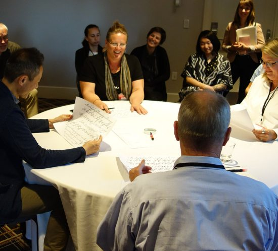 Carolyn Porter's 2017 TypeCon Type Crit, Boston 2017 with judges John Downer, Akira Kobayashi and Jill Pichotta