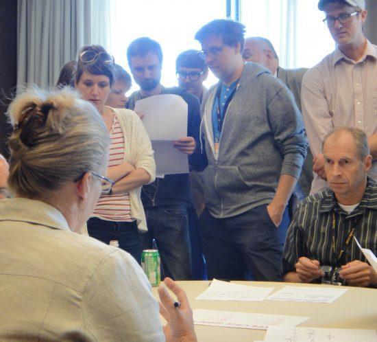 Carolyn Porter's 2012 TypeCon Type Crit, Milwaukee, WI, focus on John Downer