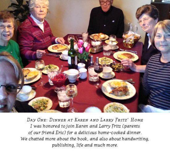 Dinner at Larry and Karen Fritz' home